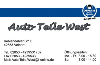 Auto-Teile-West-Velbert-T-nisheide